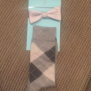 Tie the knot socks and bow tie set